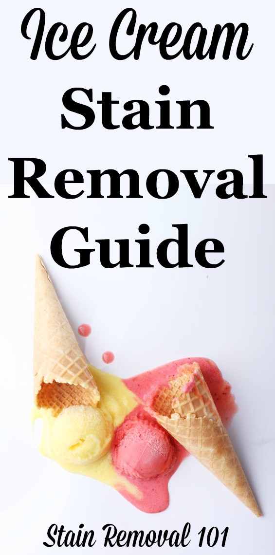 ice cream stain removal guide. Black Bedroom Furniture Sets. Home Design Ideas