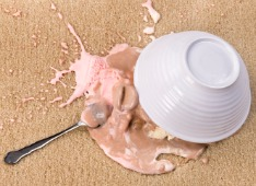 How to remove an ice cream stain on carpet