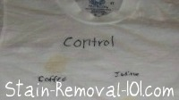 iodine stain removal