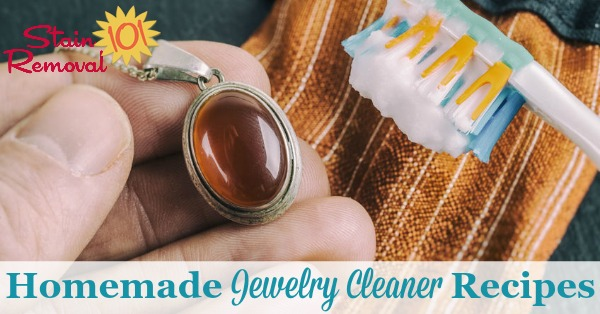 Here is a round up of homemade jewelry cleaner recipes and home remedies using common household ingredients {on Stain Removal 101}