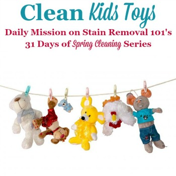 clean kids toys
