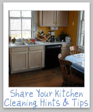kitchen cleaning hints