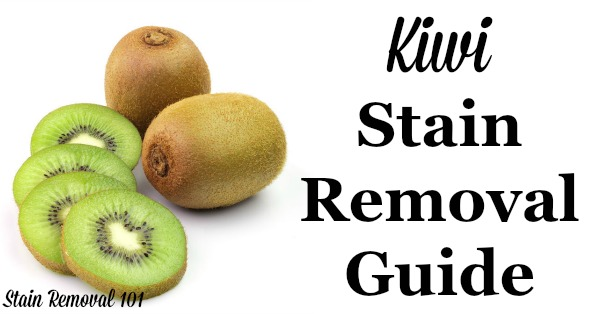 step by step for kiwi stain removal from clothes upholstery and carpet on