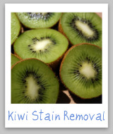kiwi juice stain removal