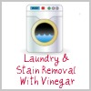 laundry and stain removal with vinegar