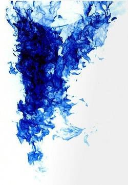 blue ink
