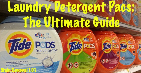 laundry detergent pacs: the ultimate guide