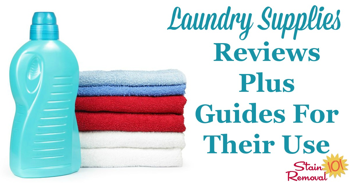 Get information and facts about the typical laundry supplies you should stock in your laundry room, along with reviews of major brands. This includes detergents, softeners, stain removers, bleaches, ironing supplies and more {on Stain Removal 101}