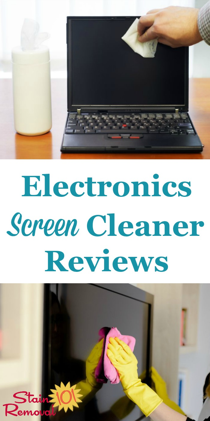 Here is a round up of electronics screen cleaners and LCD cleaners reviews discussing how various products work for cleaning delicate screens of fingerprints, smears, dust, and more {on Stain Removal 101}