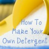 make your own powdered laundry detergent