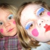 little girls with makeup on