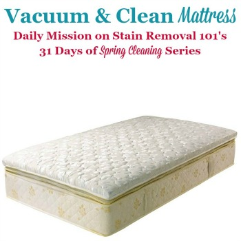 vacuum and clean mattress