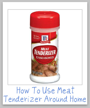 Who knew there were so many ways to remove stains and clean up your home using meat tenderizer?