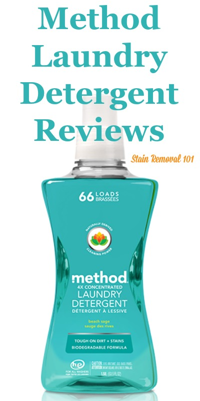 Here is a comprehensive guide about Method laundry detergent, including reviews and ratings of this eco-friendly brand of laundry supply, including different scents and varieties {on Stain Removal 101}