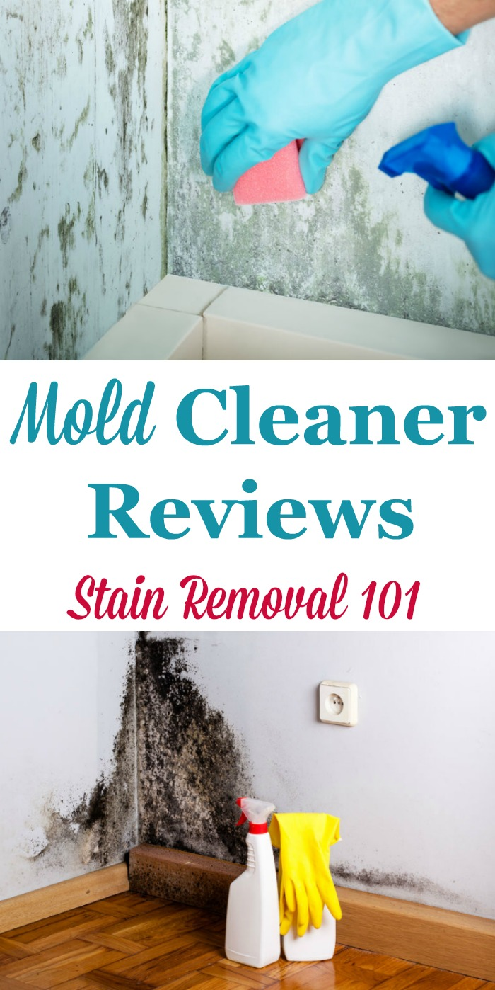 Here is a round up of mold cleaners and mold removers reviews, to find out which ones work and which ones don't on a variety of surfaces including in the bathroom, hard surfaces, walls, clothes and more {on Stain Removal 101}
