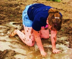 mud stains on clothes