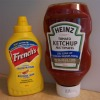 mustard and ketchup bottles