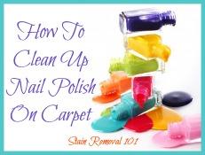 spilling nail polish bottles