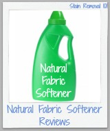 natural fabric softener and other laundry products