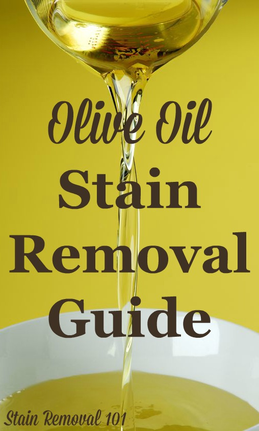 olive oil stain removal guide. Black Bedroom Furniture Sets. Home Design Ideas