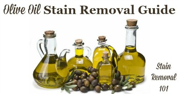 Olive oil stain removal guide