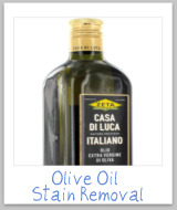 removing olive oil stains