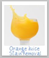 orange juice stains