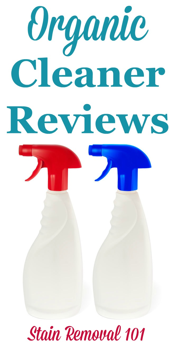 Here is a round up of organic cleaner and organic stain removers reviews to find out which environmentally friendly cleaner works best {on Stain Removal 101}