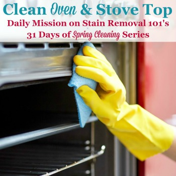 Clean oven and stove top