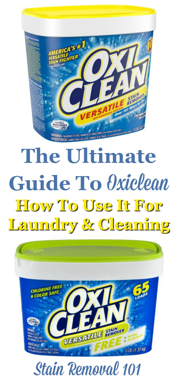 Here is the ultimate guide to Oxiclean, the product used to fight stains and clean all types of items. In this article I've provided lots of uses for this product, for both laundry and cleaning, as well as reviews of lots of products {on Stain Removal 101}