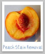 peach stain removal