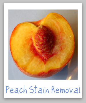 Peach Juice Stain Removal Guide