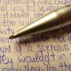 writing with ball point pen