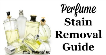 Perfume stain removal guide