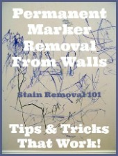 how to clean permanent marker off walls