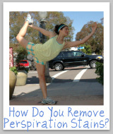 perspiration stain removal