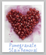 pomegranate stains