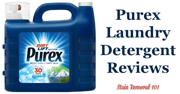Here is a comprehensive guide about Purex laundry detergent, including reviews and ratings of this brand of laundry supply, including different scents and varieties {on Stain Removal 101}