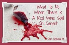 red wine spill on carpet