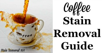 Cofee stain removal guide