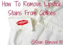 lipstick stain on shirt