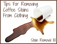 how to get set in stains out of white clothes