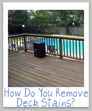 removing deck stain
