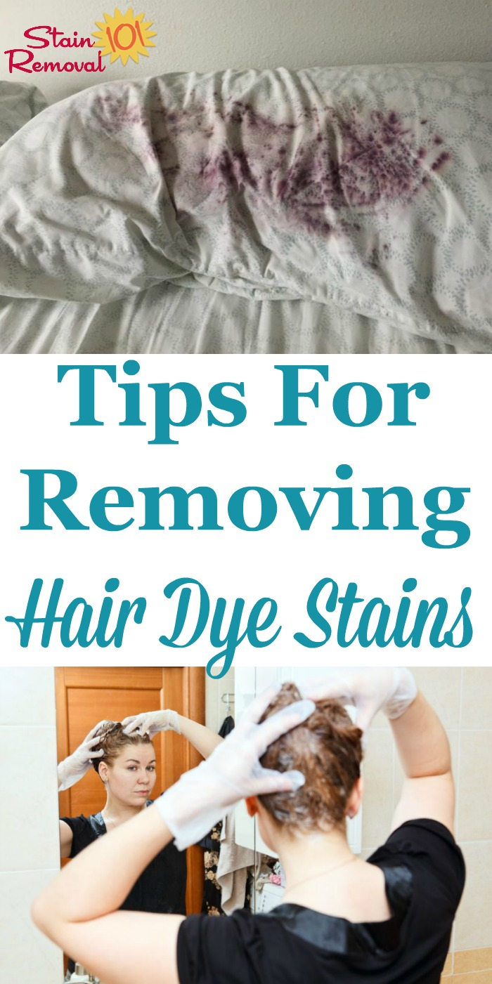Here is a round up of tips for removing hair dye stains from fabric and other surfaces, and also your skin. There are also reviews of how various stain removal products worked to remove these tough drips and splatters {on Stain Removal 101}