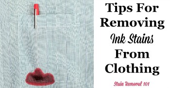 Tips for removing ink stains from clothing