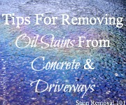 Grease stain removal guide removing motor oil and grease for Remove oil from garage floor