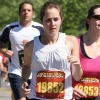 perspiring runner