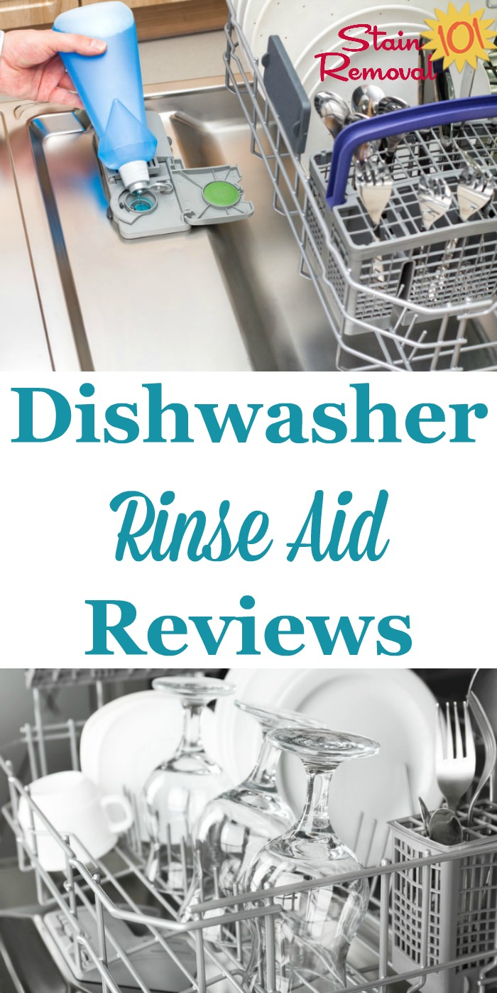 Here is a round up of dishwasher rinse agent and rinse aid reviews, including several brand names, generics and eco-friendly products, to find which ones work best {on Stain Removal 101}