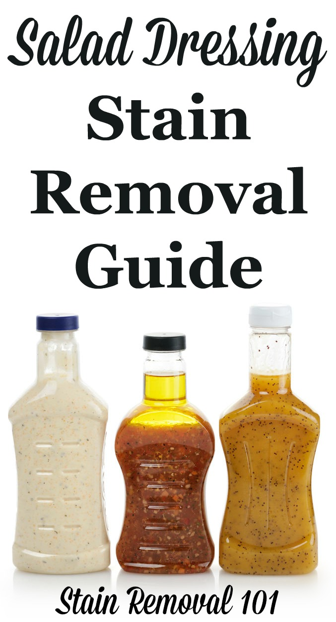Salad Dressing Stain Removal Guide For Creamy