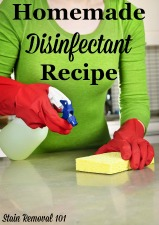 Homemade disinfectant recipe